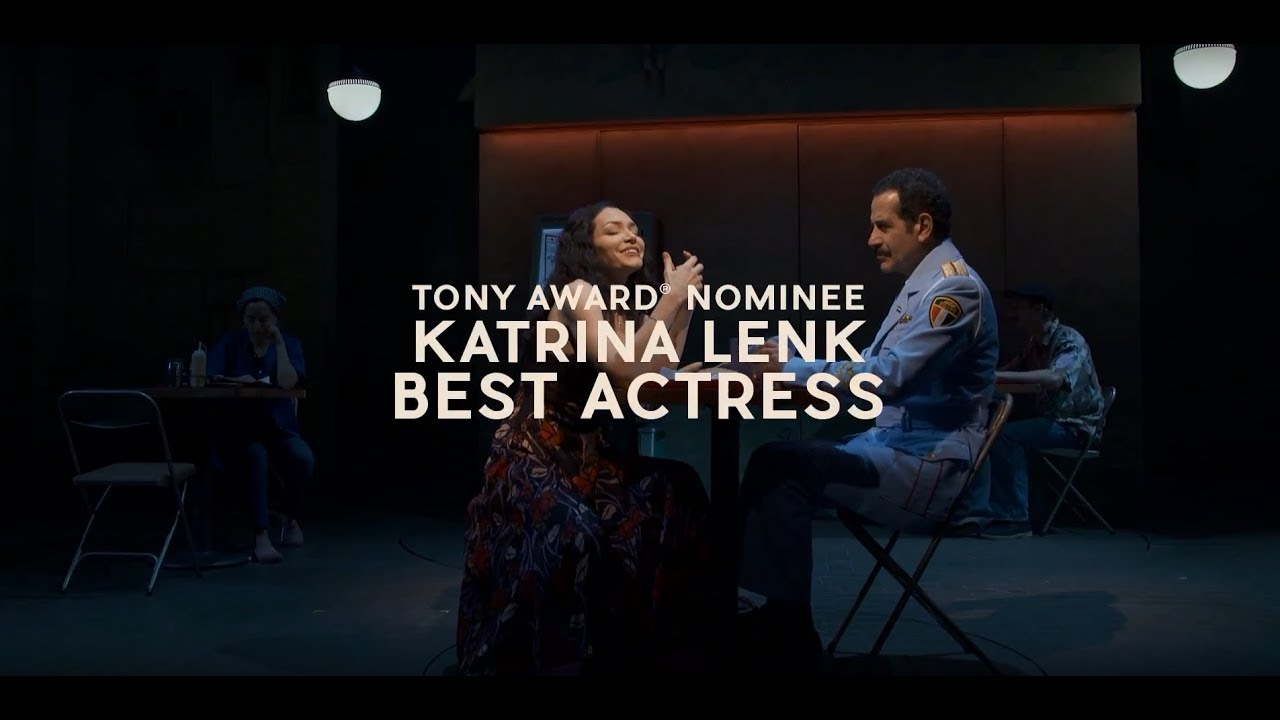 "A clip of Katrina Lenk performing ""Omar Sharif"" from her Tony-winning..."