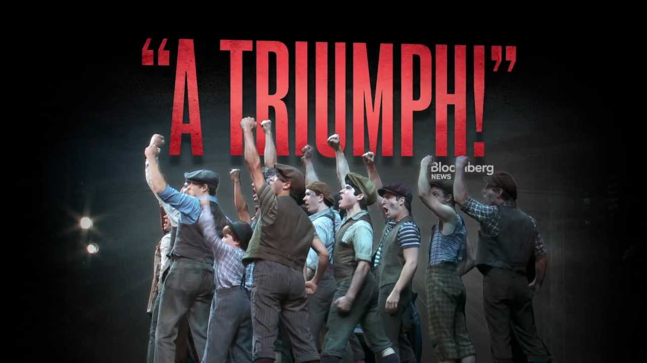 Check out one of the official Broadway trailers for NEWSIES!