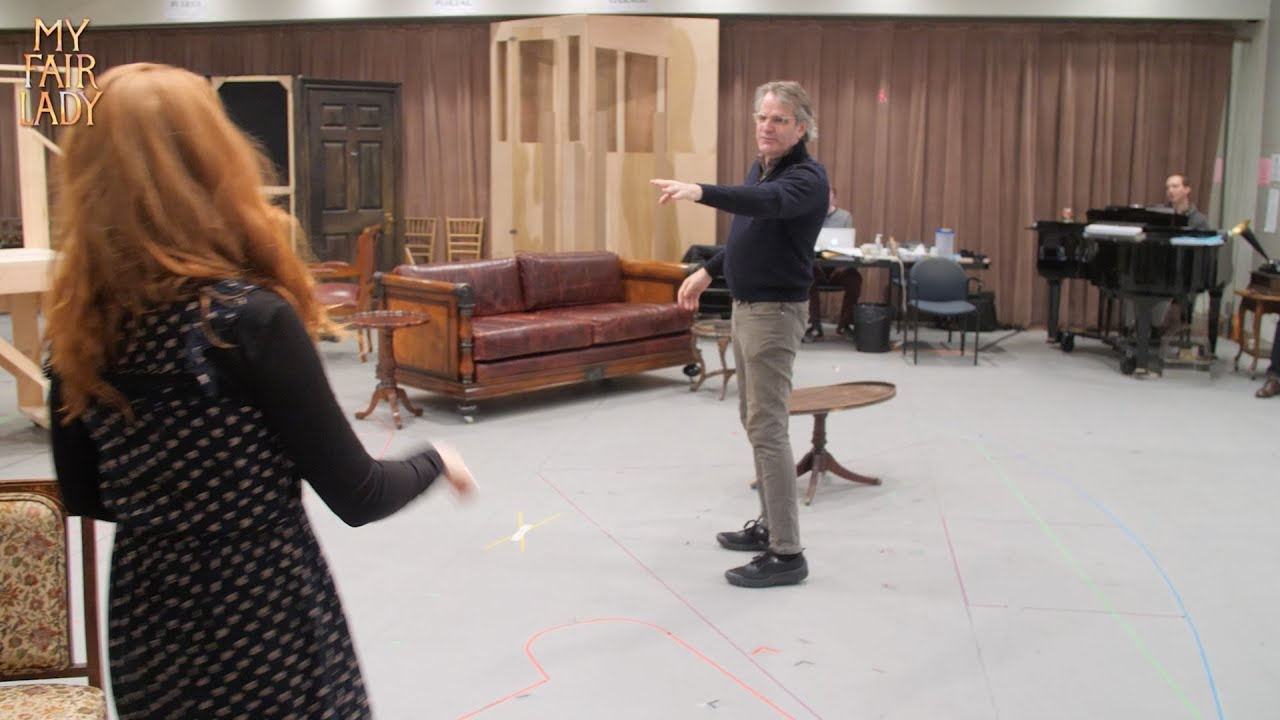 A look at rehearsals for the revival of My Fair Lady at Lincoln Center