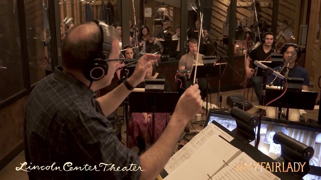 "Recording ""I Could Have Danced All Night"" for the cast album of My Fair..."