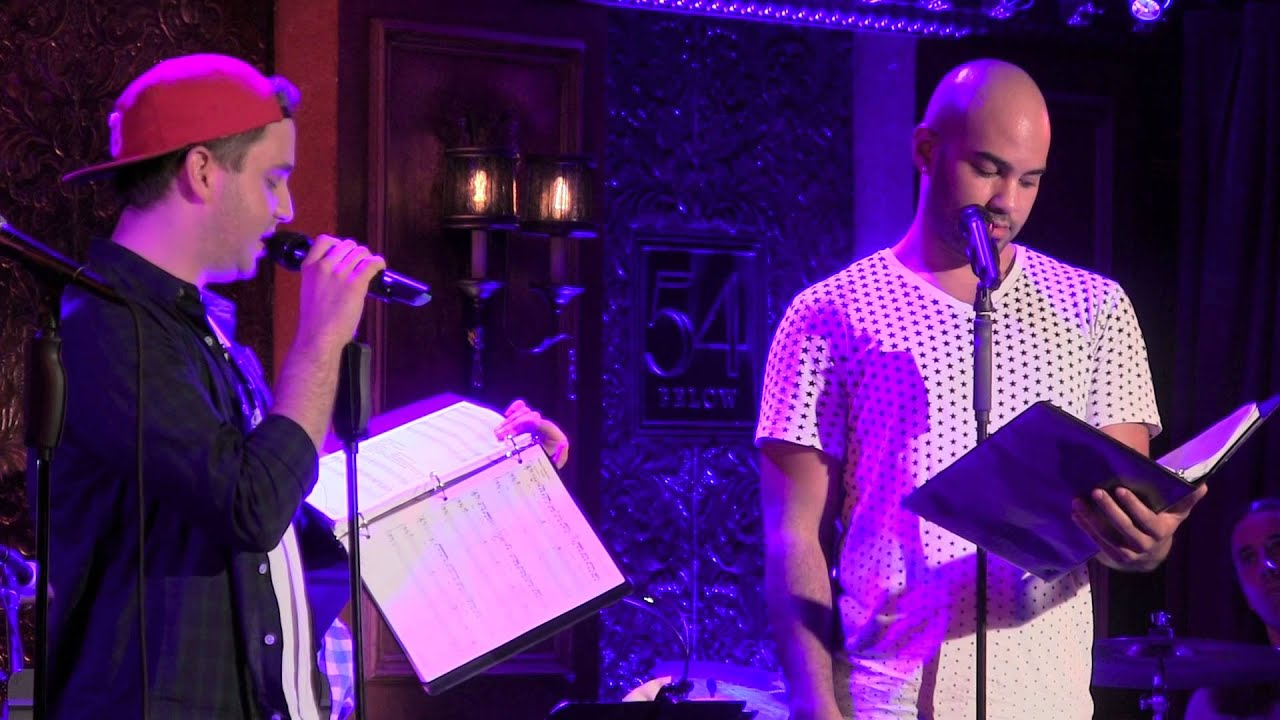 "Nicholas Christopher and Ben Platt perform ""Loser"" as part of Band Geeks..."
