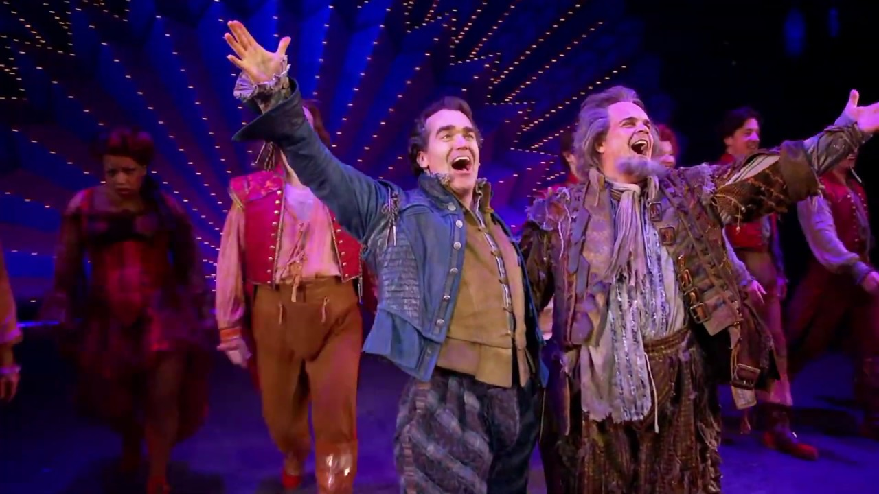 Something Rotten! authors Karey Kirkpatrick, Wayne Kirkpatrick, and John O'Farrell...