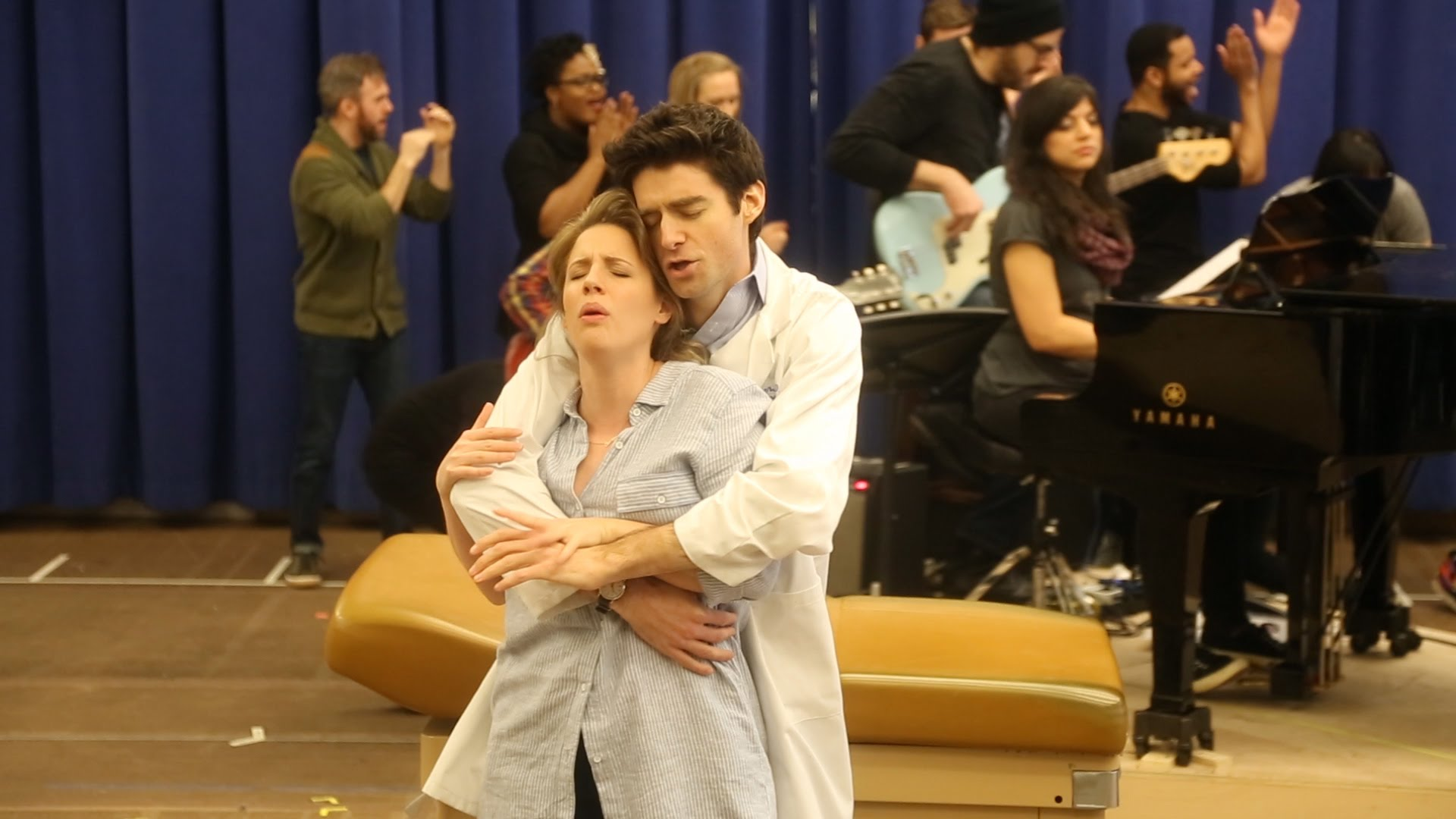 "In Rehearsal: Jessie Mueller and Drew Gehling Sing ""Bad Idea"" from Sara..."