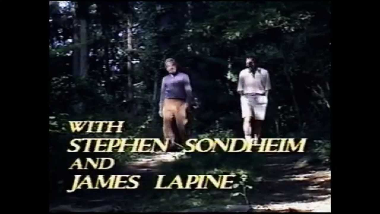 Introduction to an depth conversation between authors Stephen Sondheim and James...