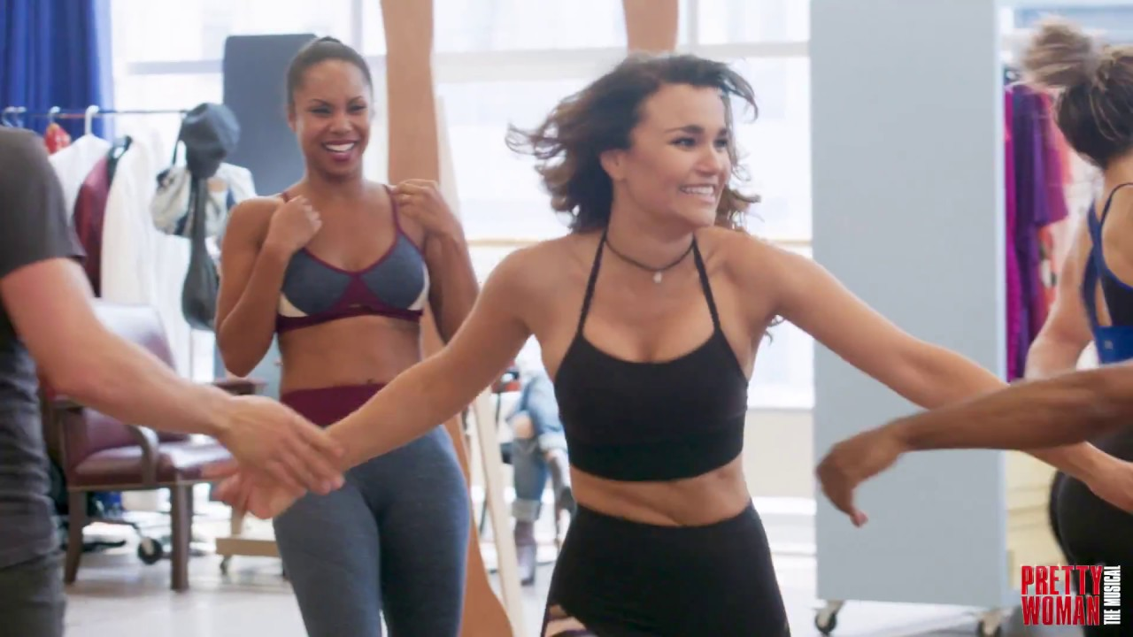 "Watch the Broadway cast of Pretty Woman rehearse ""Welcome to Hollywood""."